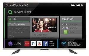 Sharp's SmartCentral menu