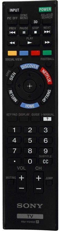 remote xbr850B W850B