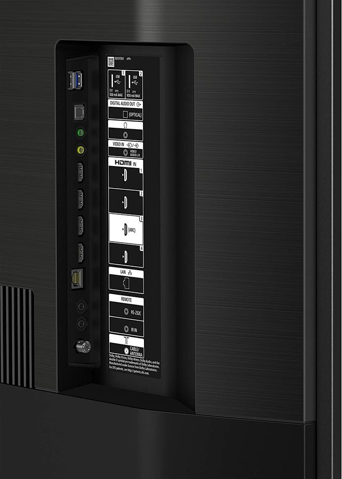 Sony XBR900H rear ports