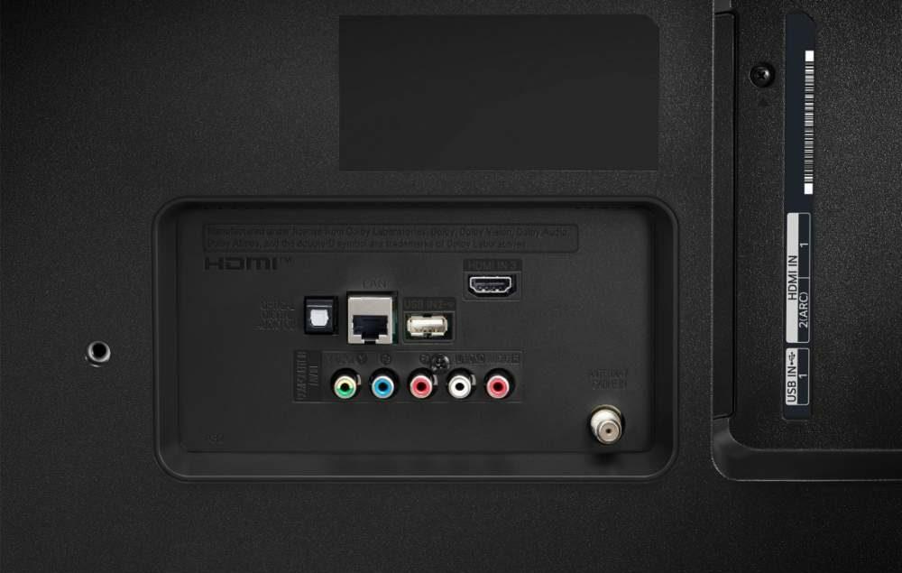 LG UN7300PUF rear ports