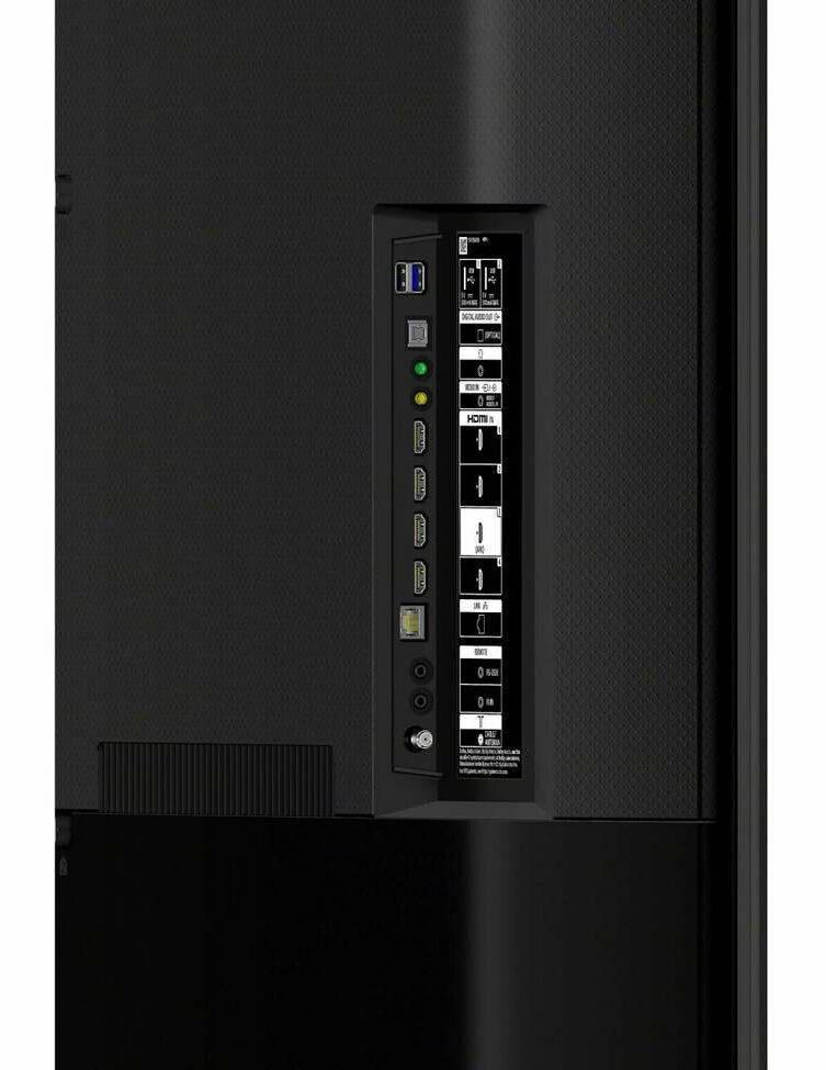 Sony XBR800H rear ports